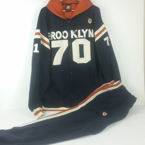 Brooklyn Xpress 5X Hoodie Pants Sweats Set